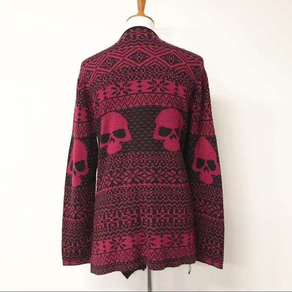 69% off Iron Fist Sweaters - Iron Fist Skull Fair Isle Open Drape ...